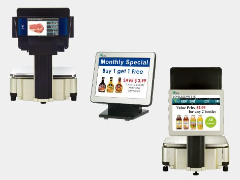 "More sales through product marketing, cross merchandising and promotional message with the remote display, 7"" and 12.1"" customer display."