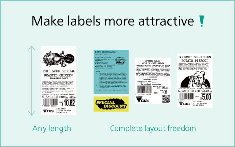 Solution with linerless labels | Linerless labels allow variable